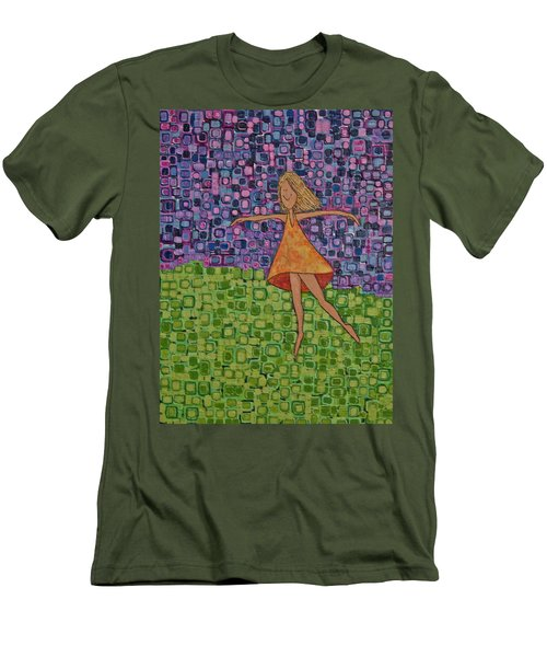 Spring Men's T-Shirt (Slim Fit) by Donna Howard