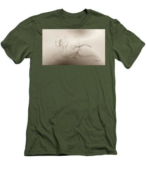 Men's T-Shirt (Athletic Fit) featuring the mixed media Spring Feelings 2 by Denise Fulmer