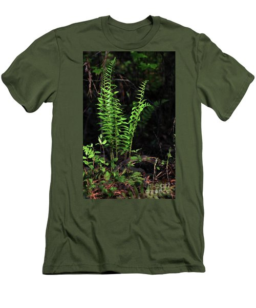 Men's T-Shirt (Slim Fit) featuring the photograph Spring Ferns by Skip Willits