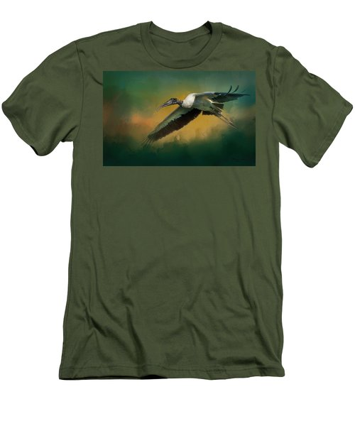 Men's T-Shirt (Slim Fit) featuring the photograph Spring Flight by Marvin Spates