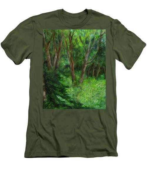 Spring In The Forest Men's T-Shirt (Slim Fit) by FT McKinstry