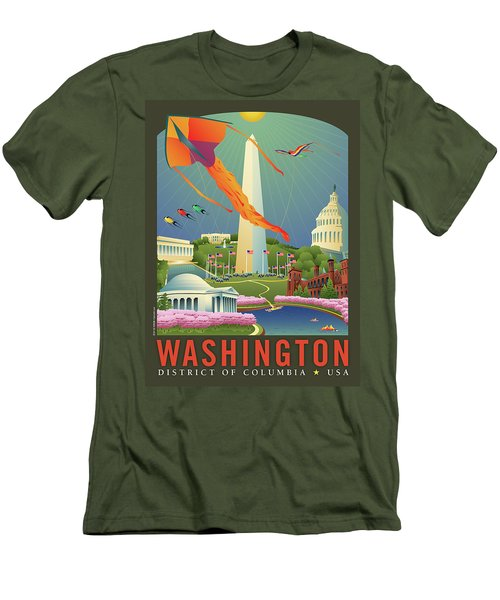 Spring In Washington D.c. Men's T-Shirt (Athletic Fit)