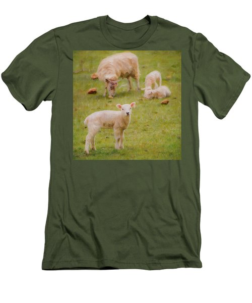 Men's T-Shirt (Athletic Fit) featuring the photograph Spring Lamb by Bellesouth Studio