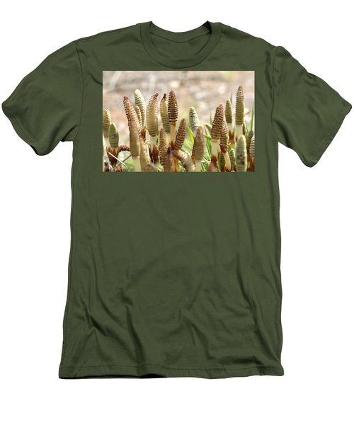 Men's T-Shirt (Slim Fit) featuring the photograph Spring Macro4 by Jeff Burgess
