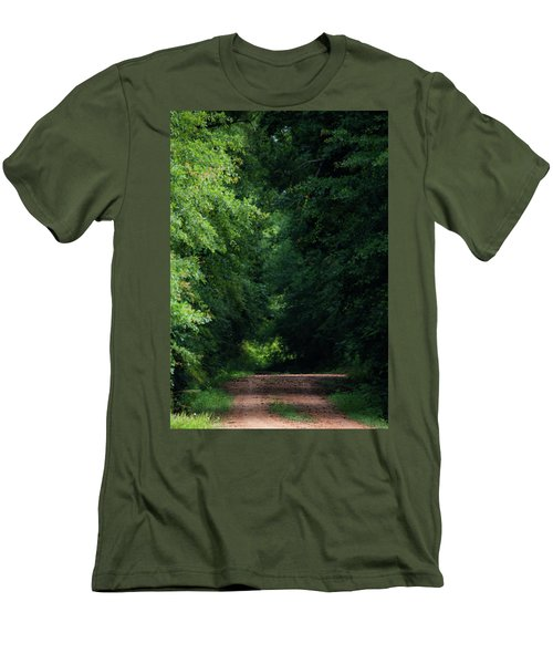 Men's T-Shirt (Slim Fit) featuring the photograph Spring Path Of Light by Shelby Young