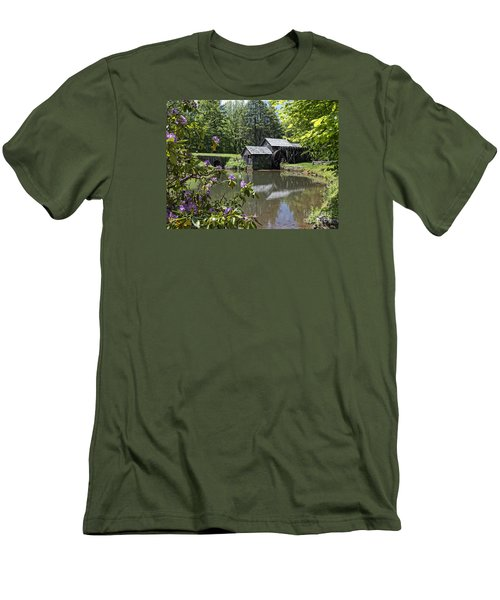 Spring Reflections Of An Ancient Mill Men's T-Shirt (Athletic Fit)