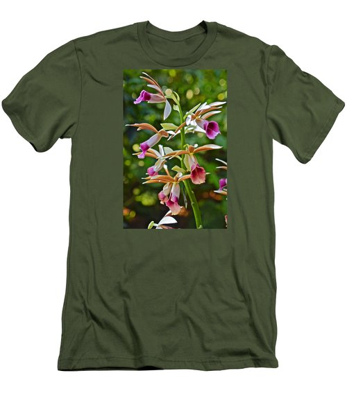 Spring Show 15 Nun's Orchid 1 Men's T-Shirt (Slim Fit) by Janis Nussbaum Senungetuk