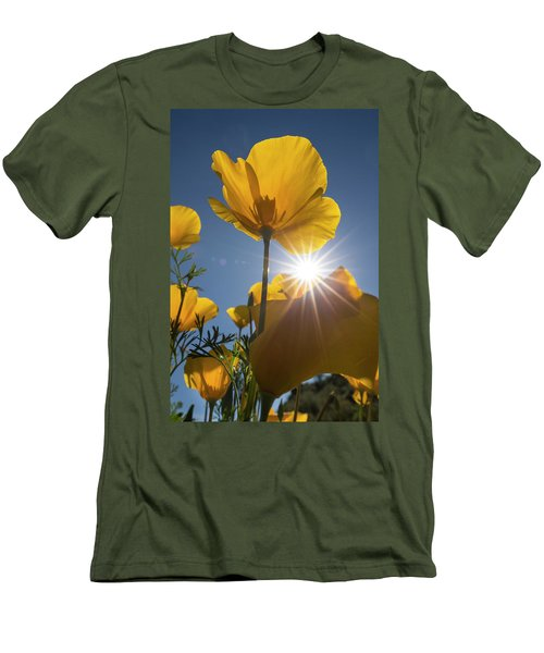 Spring Starburst Men's T-Shirt (Slim Fit) by Sue Cullumber