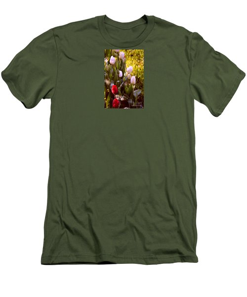 Men's T-Shirt (Slim Fit) featuring the photograph Spring Time Tulips by Susanne Van Hulst