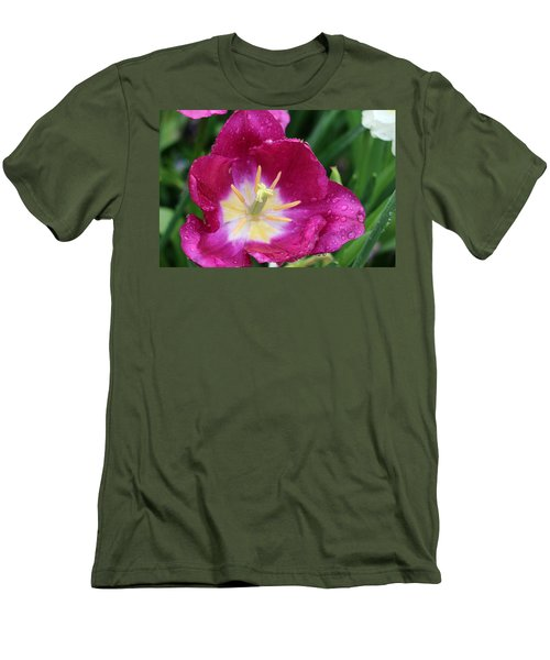 Spring Tulips 47 Men's T-Shirt (Athletic Fit)