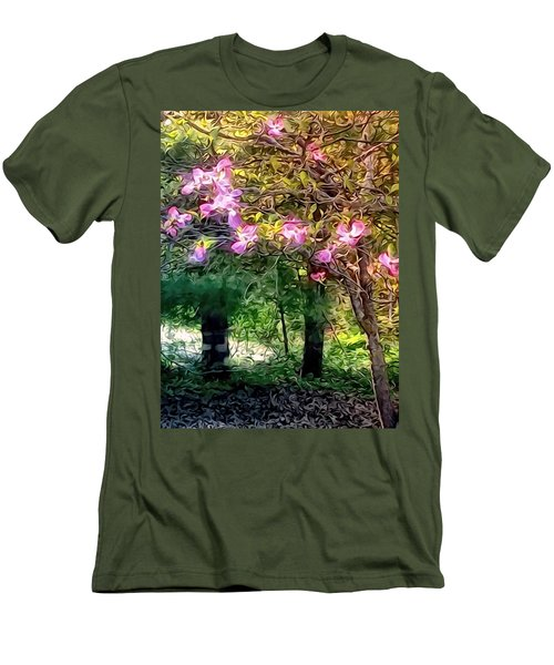 Men's T-Shirt (Slim Fit) featuring the digital art Spring Will Come by Robin Regan