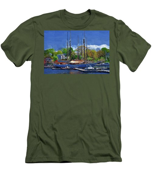 Springtime In The Harbor Men's T-Shirt (Slim Fit) by Kirt Tisdale