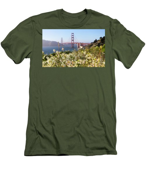Men's T-Shirt (Slim Fit) featuring the photograph Springtime On The Bay by Everet Regal