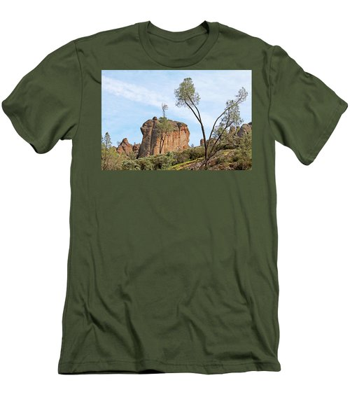 Men's T-Shirt (Slim Fit) featuring the photograph Square Rock Formation by Art Block Collections