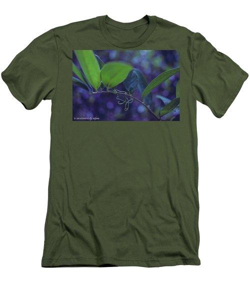 squiggle Vine Men's T-Shirt (Slim Fit) by Stefanie Silva