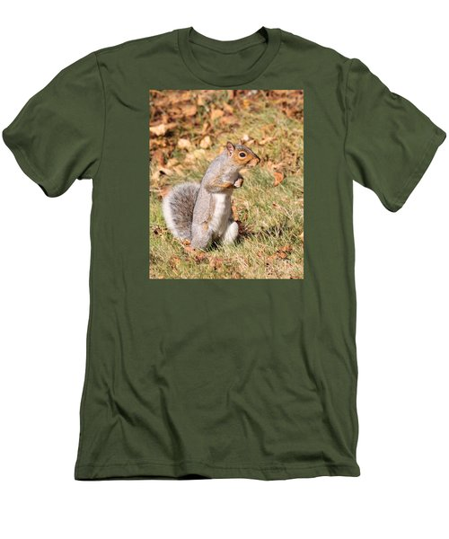 Men's T-Shirt (Slim Fit) featuring the photograph Squirrely Me by Debbie Stahre