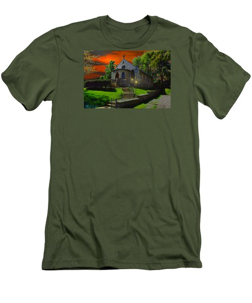 Men's T-Shirt (Slim Fit) featuring the photograph St. Anne's Chapel by Michael Rucker