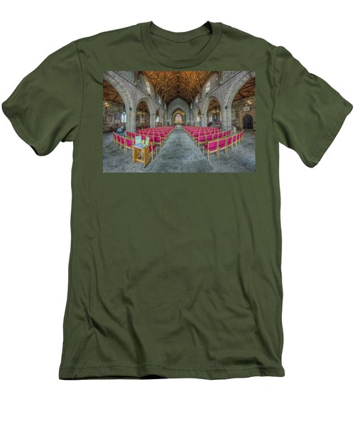 Men's T-Shirt (Slim Fit) featuring the photograph St Asaph Cathedral by Ian Mitchell