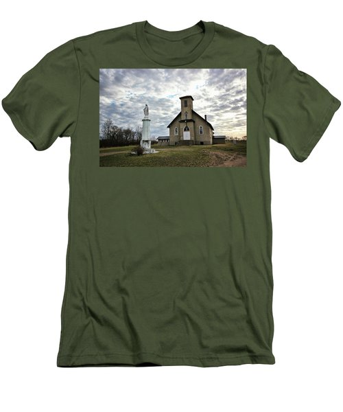 Men's T-Shirt (Slim Fit) featuring the photograph St Hubert by Ryan Crouse