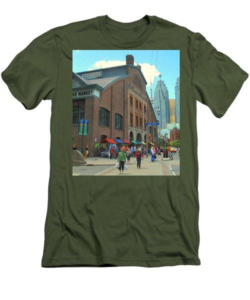 St Lawrence Market Men's T-Shirt (Slim Fit) by Ian  MacDonald