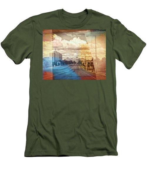 Men's T-Shirt (Slim Fit) featuring the photograph St. Paul Capital Building by Susan Stone