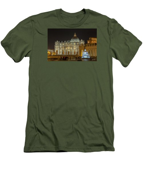 St. Peter Basilica Men's T-Shirt (Slim Fit) by Ed Cilley
