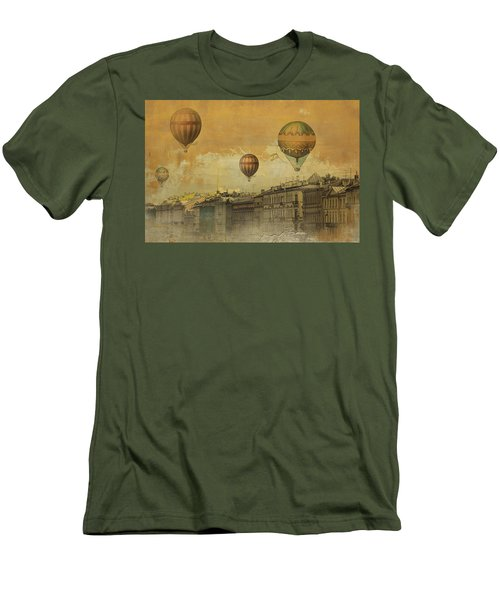 St Petersburg With Air Baloons Men's T-Shirt (Slim Fit) by Jeff Burgess