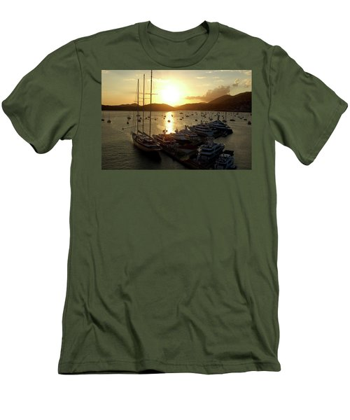 St. Thomas Harbor Men's T-Shirt (Athletic Fit)
