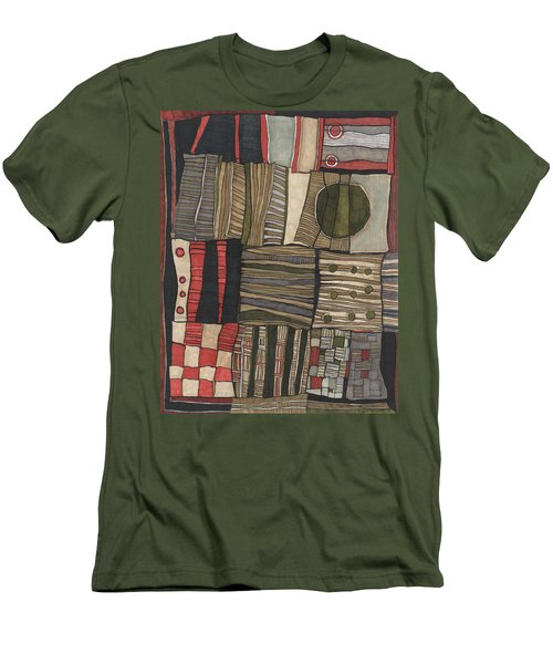 Stacked Shapes Men's T-Shirt (Slim Fit) by Sandra Church