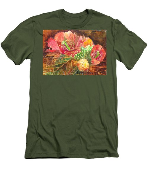 Staghorn In Bloom Men's T-Shirt (Slim Fit) by Eric Samuelson
