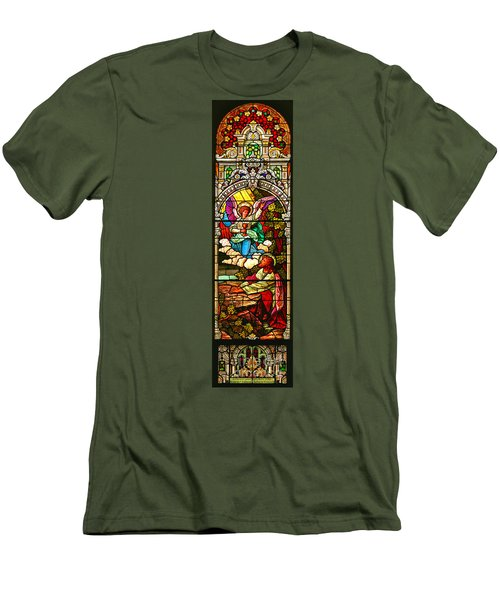 Men's T-Shirt (Slim Fit) featuring the photograph Stained Glas Scene 7 by Adam Jewell