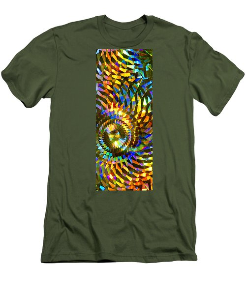 Men's T-Shirt (Slim Fit) featuring the photograph Stained Glass Fantasy 1 by Francesa Miller