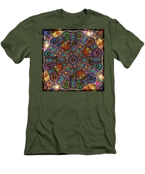 Stained Glass Mandala Men's T-Shirt (Athletic Fit)