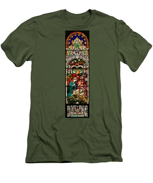 Men's T-Shirt (Slim Fit) featuring the photograph Stained Glass Scene 4 by Adam Jewell