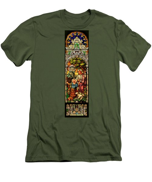 Men's T-Shirt (Slim Fit) featuring the photograph Stained Glass Scene 9 by Adam Jewell