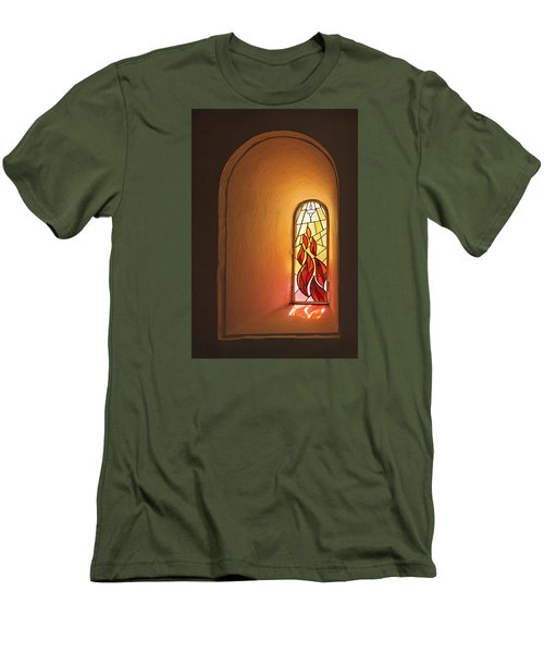 Men's T-Shirt (Slim Fit) featuring the photograph Stained Glass Window by Inge Riis McDonald