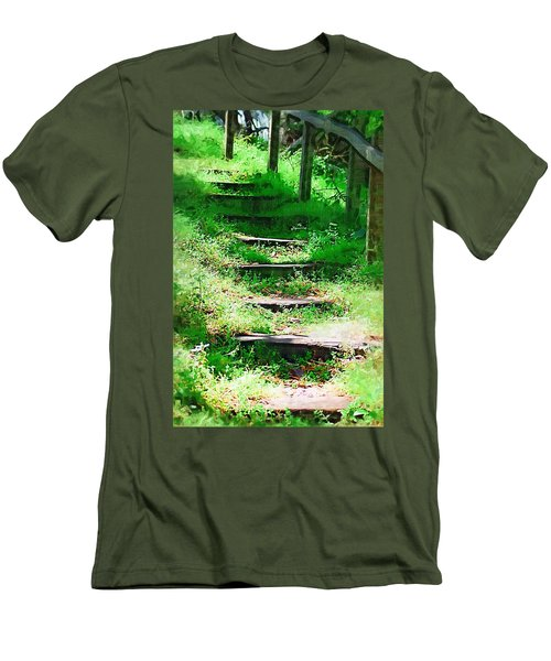 Men's T-Shirt (Slim Fit) featuring the photograph Stairway To Heaven by Donna Bentley