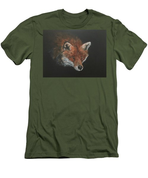 Red Fox In Stalking Mode Men's T-Shirt (Athletic Fit)
