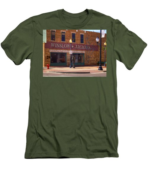 Standin On A Corner Men's T-Shirt (Athletic Fit)