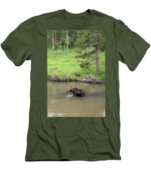 Men's T-Shirt (Athletic Fit) featuring the photograph Standing Guard by James BO Insogna