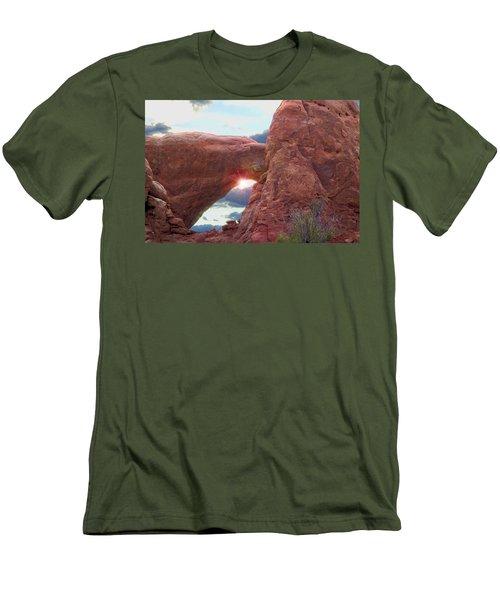 Men's T-Shirt (Slim Fit) featuring the digital art Star Arch by Gary Baird