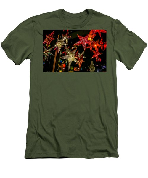 Men's T-Shirt (Athletic Fit) featuring the photograph Star Lights by Lora Lee Chapman