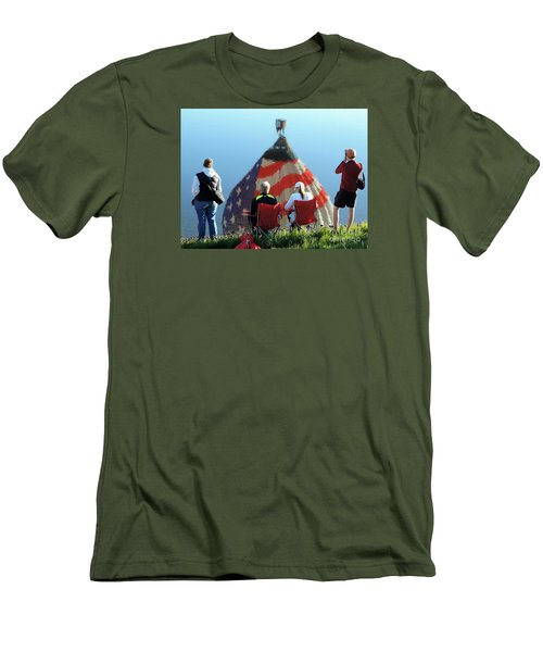 Men's T-Shirt (Slim Fit) featuring the painting Star Spangled Morning by Tom Riggs