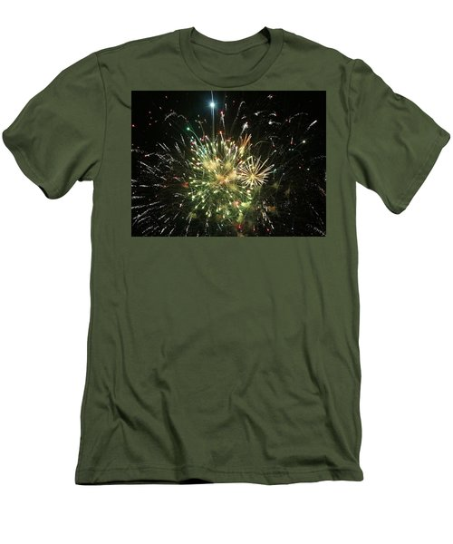 Star Spangling Fireworks Men's T-Shirt (Athletic Fit)