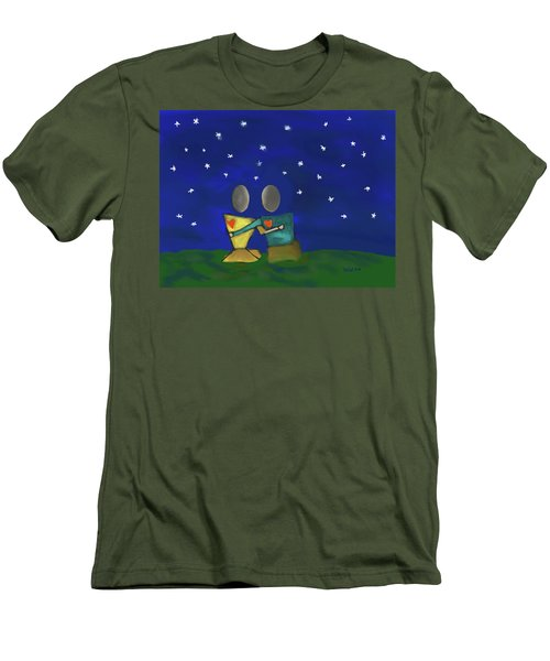Star Watching Men's T-Shirt (Slim Fit) by Haleh Mahbod