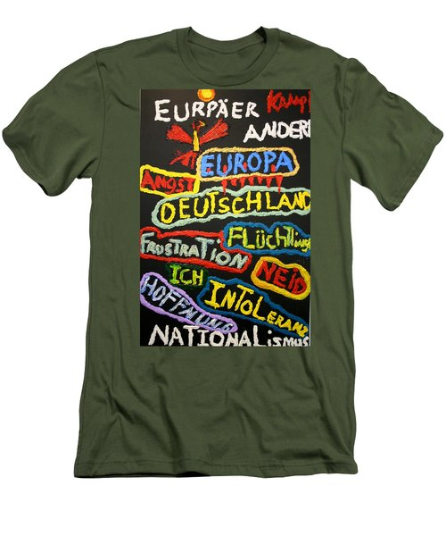 State Of Europe Men's T-Shirt (Slim Fit) by Darrell Black