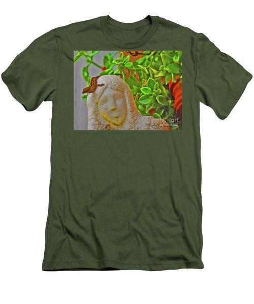 Statue Lizard  Men's T-Shirt (Athletic Fit)