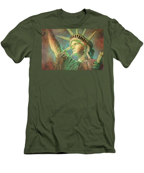 Statue Of Liberty 1 Men's T-Shirt (Athletic Fit)
