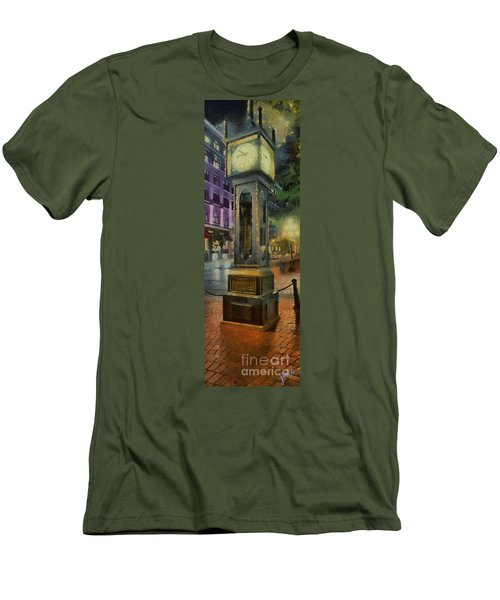 Steam Clock Gastown Men's T-Shirt (Slim Fit) by Jim  Hatch
