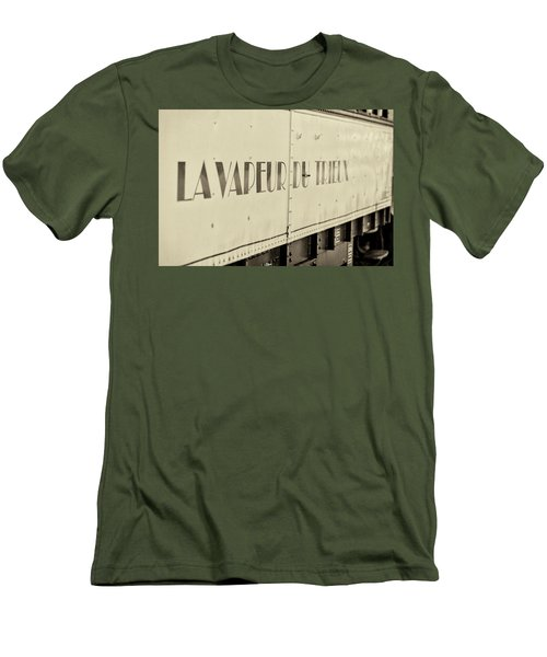 Men's T-Shirt (Athletic Fit) featuring the photograph Steam Train Series No 34 by Clare Bambers